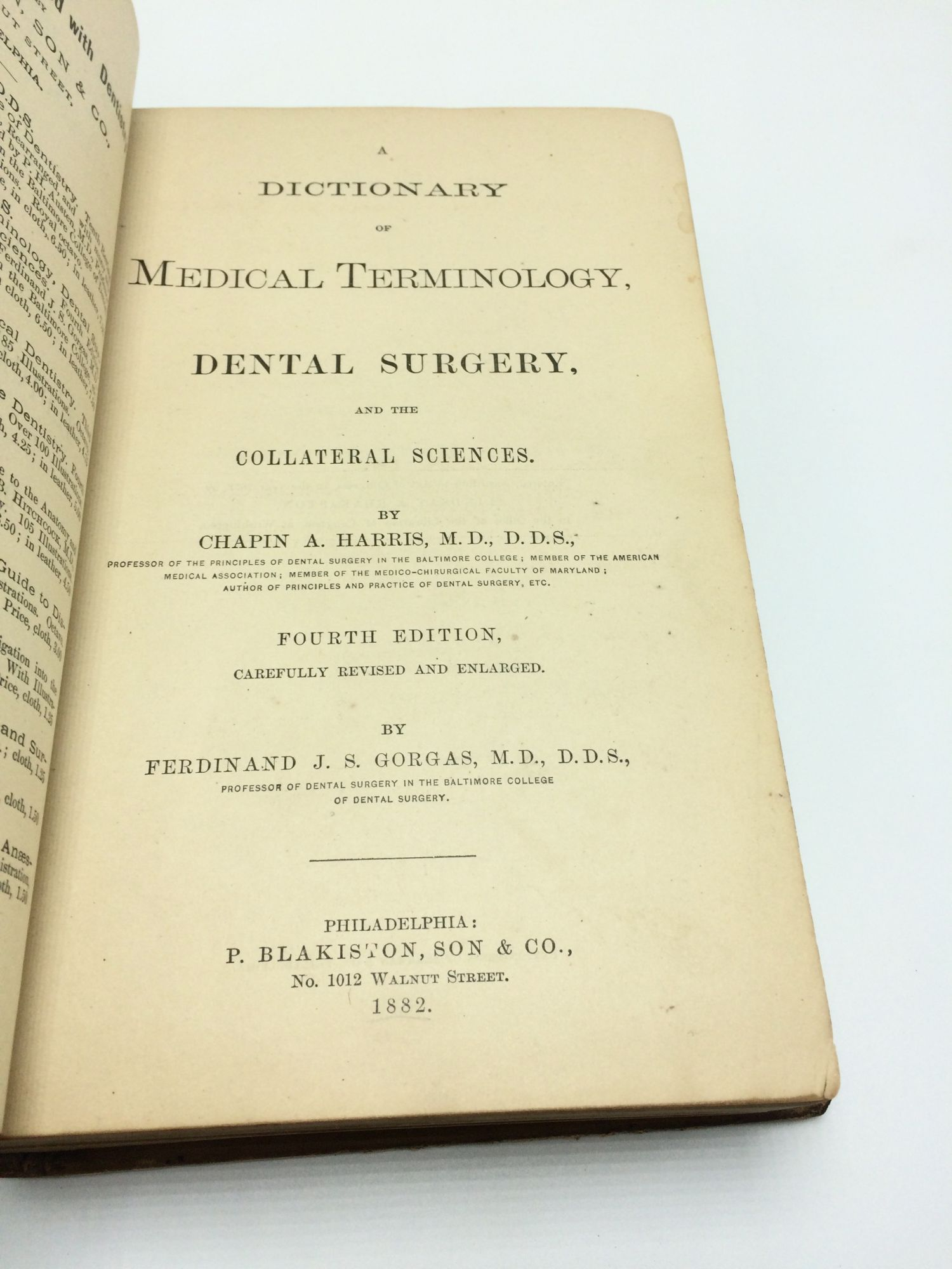 A dictionary of medical terminology, dental surgery, and the collateral sciences