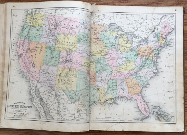Mitchell's New Intermediate Geography. A System of Modern Geography, designed for the use of schools and academies... Illinois Edition. S. Augustus Mitchell.