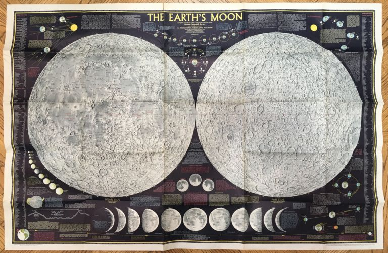 The Earth's Moon -- POSTER compiled and drawn in the Cartographic Division of the National Geographic Society. Cartographic Division of the National Geographic Society Melville Grosvenor.