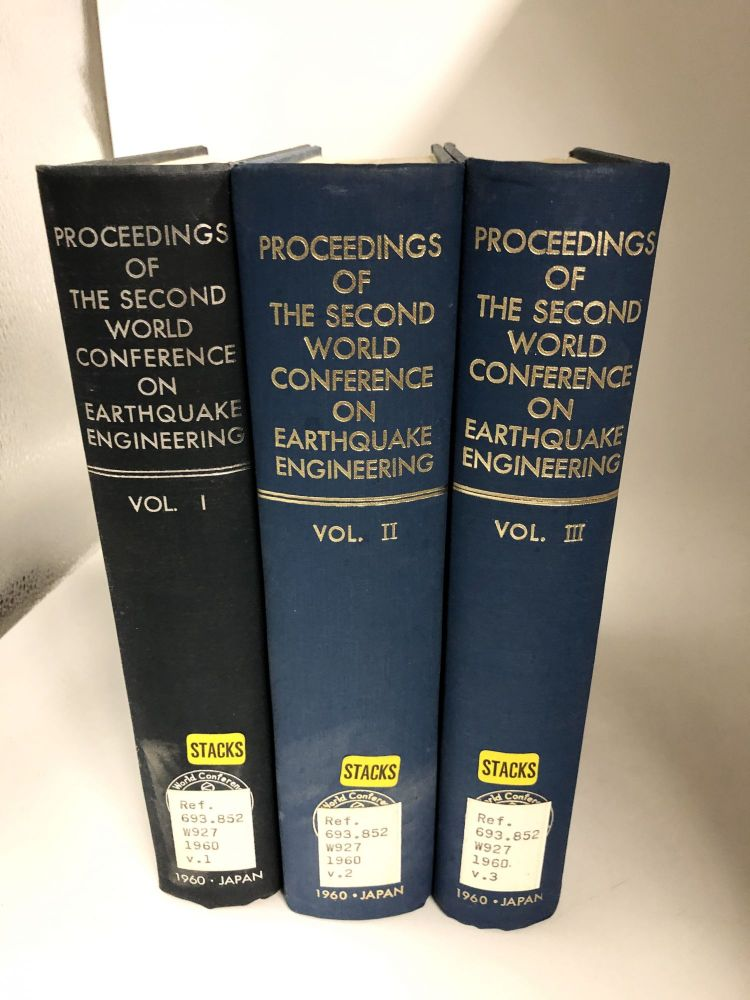 Proceedings of the Second World Conference on Earthquake Engineering: Tokyo and Kyoto, Japan, July 11-18, 1960 (3 Volume Set). Science Council of Japan.