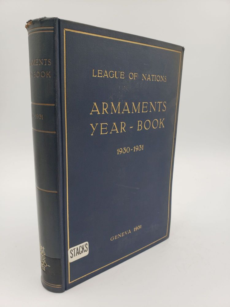 Armaments Year-Book 1930-1931. League of Nations.