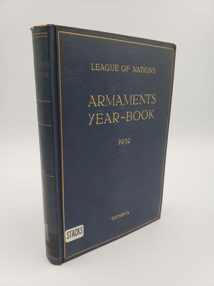 Armaments Year-Book 1932. League of Nations.