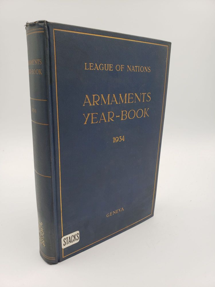 Armaments Year-Book 1934. League of Nations.