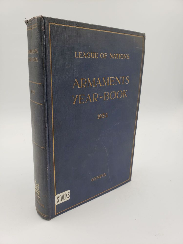 Armaments Year-Book 1935. League of Nations.
