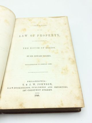 A Treatise of the Law of Property: As Administered by the House of Lords