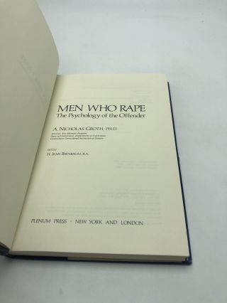 Men Who Rape: The Psychology of the Offender
