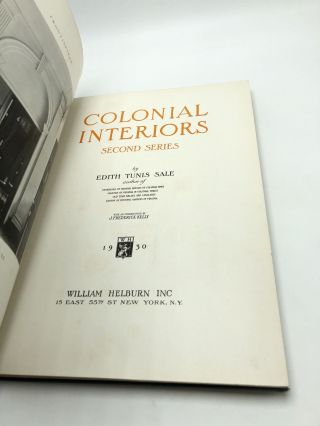 Colonial Interiors Second Series