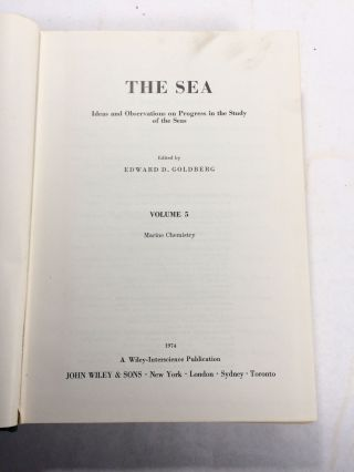 The Sea: Ideas and Observations on Progress in the Study of the Seas (6 Volume Set)