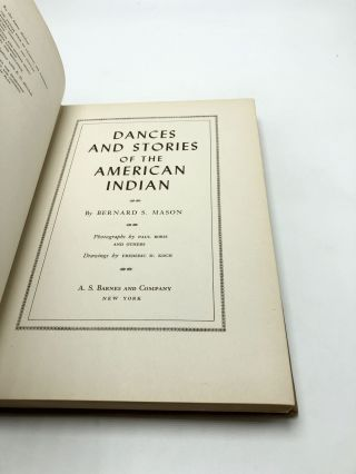 Dancers And Stories Of The American Indian