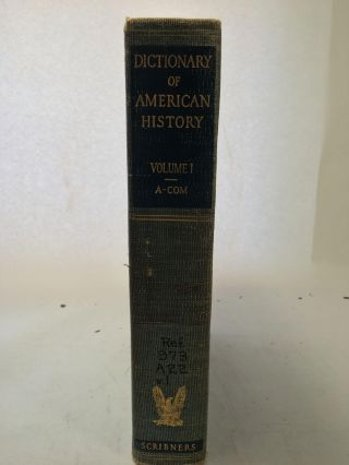 Dictionary Of American History Volumes I-VI With Index