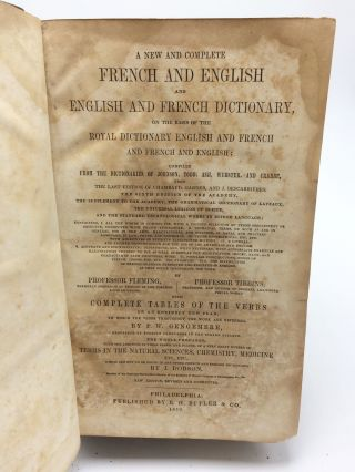A New And Complete French And English Dictionary