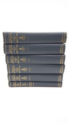 Grove's Dictionary Of Music And Musicians (6 Volumes). H C. Coles