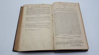 Report Of The Commissioner Of Patents For The Year 1852 Parts 1 & 2