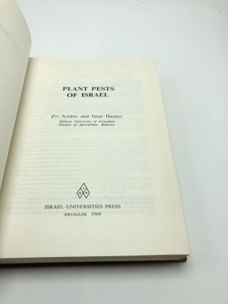 Plant Pests of Israel