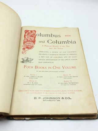 Columbus and Columbia: A Pictorial History of the Man and the Nation (SALESMAN'S DUMMY)