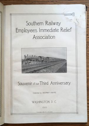 Southern Railway Employees Immediate Relief Association: Souvenir of our Third Anniversary