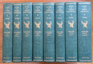Lives of Game Animals, complete set in 8 books (Volumes 1-4, each in two parts). Ernest Thompson...