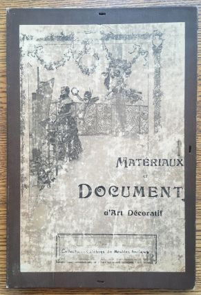 Materiaux et Documents d'Art Decoratif. Collections Celebres de Meubles Anciens en bois Sculpte...