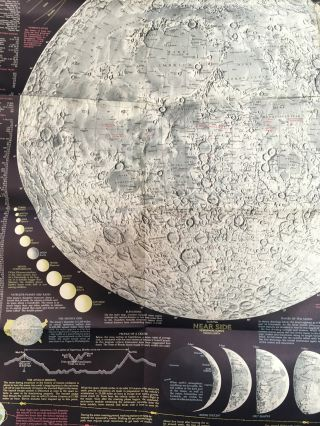 The Earth's Moon -- POSTER compiled and drawn in the Cartographic Division of the National Geographic Society