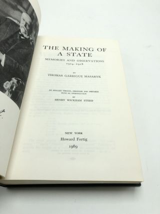 Making of a State: Memories and Observations 1914-1918
