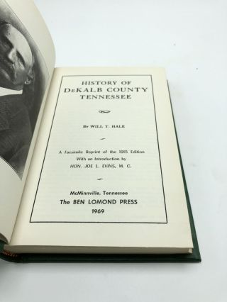 History Of Dekalb County Tennessee
