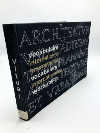 International Vocabulary of Town Planning and Architecture. International Union Of Architects