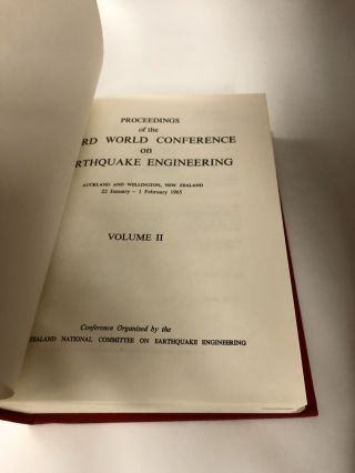 Proceedings Of The Third World Conference On Earthquake Engineering: Auckland And Wellington, New Zealand, 22 January-1 February 1965 (3 Volume Set)