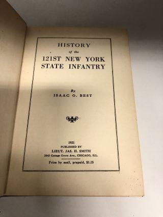 History Of The 121st New York State Infantry