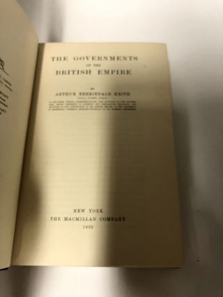 The Governments of the British Empire