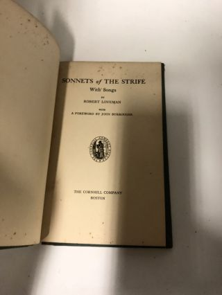 Sonnets of the Strife: With Songs
