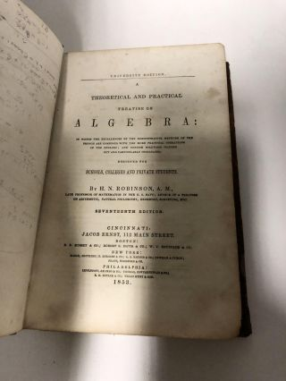 A Theoretical and Practical Treatise on Algebra