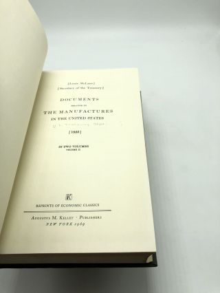 Documents Relative to The Manufactures in the United States in Two Volumes