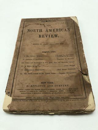 The North American Review. August 1881, No. 297, Vol. 133, No. 2. Allen Thorndike Rice