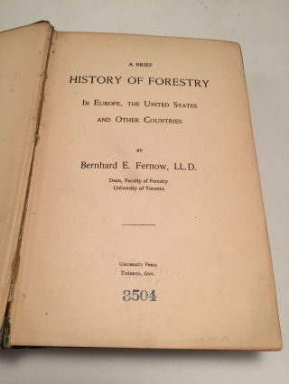 A Brief History of Forestry in Europe, the United States and Other Countries
