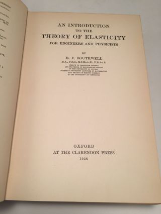 An Introduction to the Theory of Elasticity for Engineers and Physicists