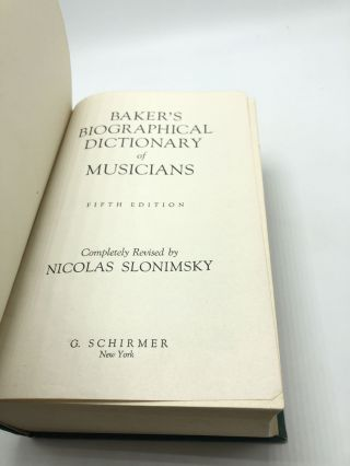 Bakers Biographical Dictionary of Musicians