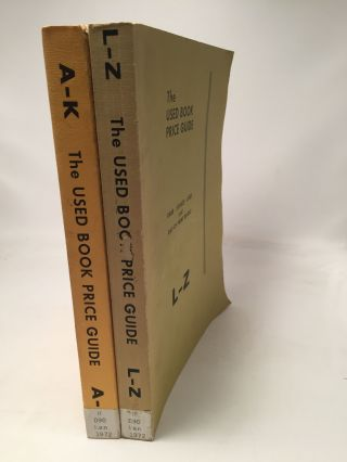 The Used Book Price Guide 5th Year Edition: 2 Volumes A-K, L-Z. Mildred S. Mandeville