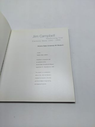 Jim Campbell: Transforming Time, Electronic Works 1990-1999