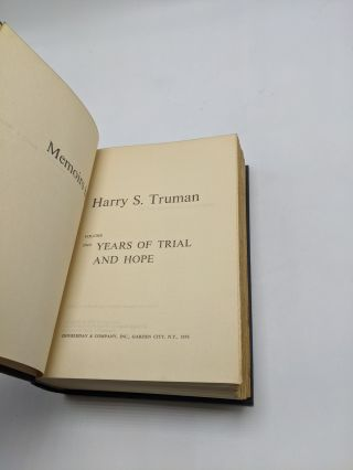 Memoirs (2 Volume Set) Volume One: Year of Decisions; Volume Two: Years of Trial and Hope
