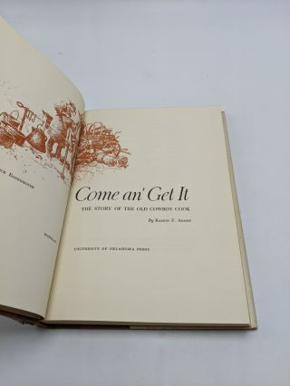 Come An' Get It - The Story of the Old Cowboy Cook