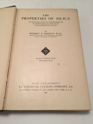 The Properties of the Silica: An Introduction to the Properties of Substances in the Solid Non-Conducting State