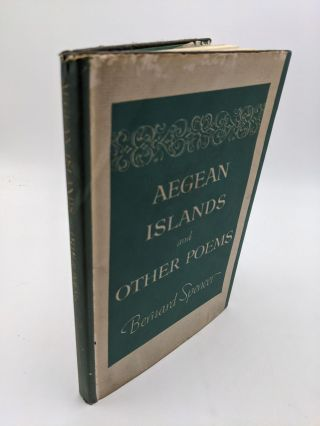 Aegean Islands And Other Poems. Bernard Spencer