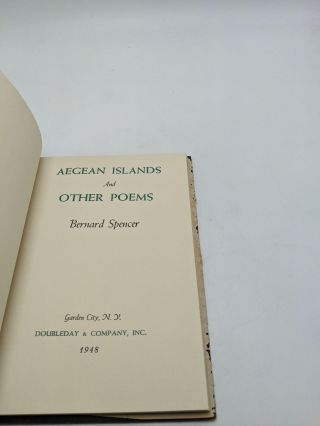 Aegean Islands And Other Poems