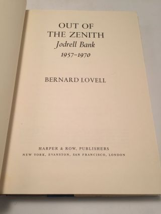 Out of the Zenith: Jodrell Bank 1957 - 1970