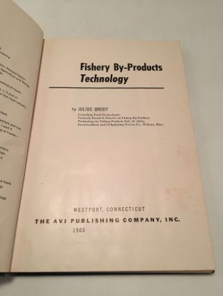 Fishery By-Products Technology