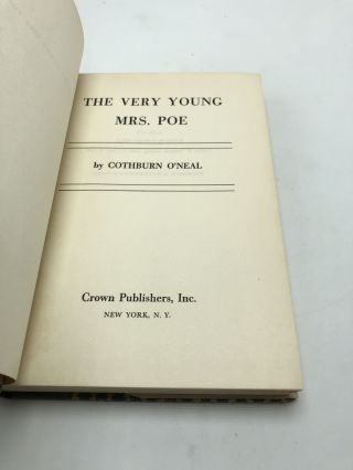 The Very Young Mrs. Poe