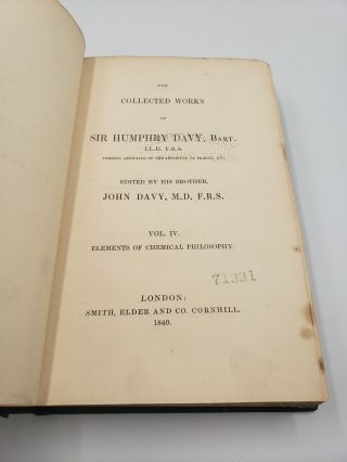 The Collected works of Sir Humphry Davy: Elements of Chemical Philosophy (Volume 4)