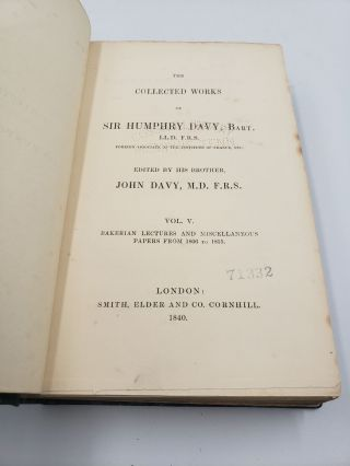 The Collected works of Sir Humphry Davy: Bakerian Lectures and Miscellaneous Papers from 1806 to 1815 (Volume 5)